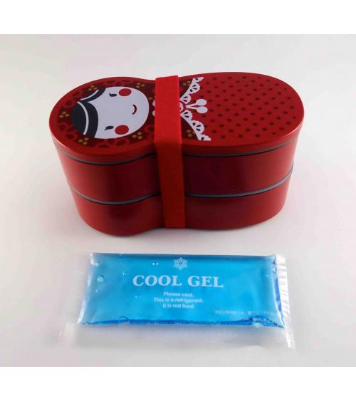 Bento box (lunch box) matrioska roja