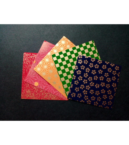 Kit papel origami multicolor. 7,5x7,5cm.