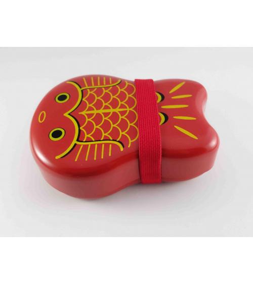 Bento box (lunch box) Carpas kawaii rojo