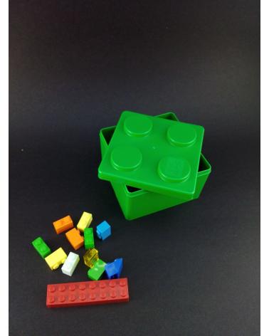 Bento box tipo Lego pequeña verde