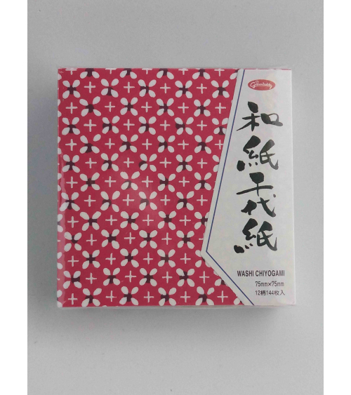 144 hojas para Origami 7.5cmx7.5cm. 12 motivos diferentes.