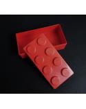 Bento box tipo Lego grande roja