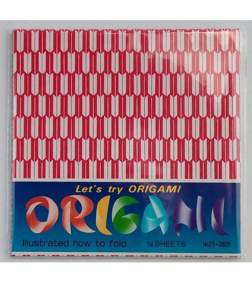 Hojas para origami 15cmx15cm. Diseños tradicionales.