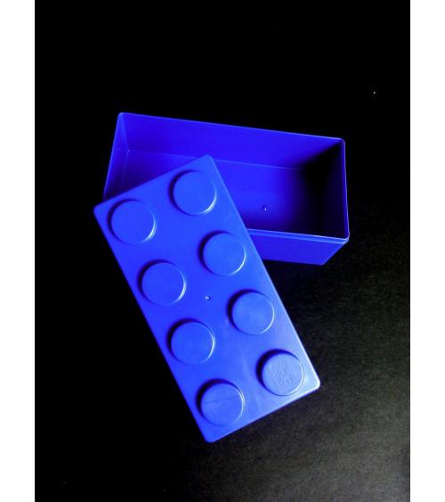 Bento box tipo Lego grande azul