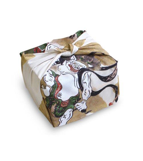 Furoshiki. Rajin y Fujin (48 cm x 48 cm)