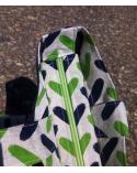 Bolso tote bag cremallera espigas verdes