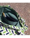 Bolso japonés tote bag cremallera espigas verdes