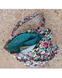 Bolso tote bag cremallera pandas y flores