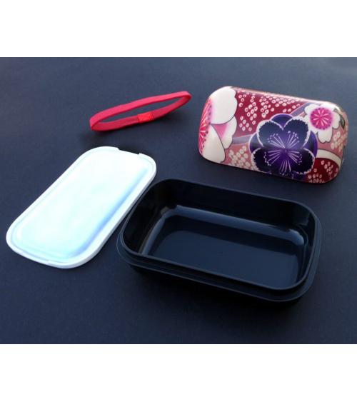 Bento box (lunch box) onigiri rosa flores tradicionales