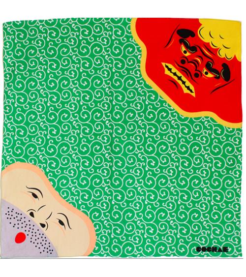 Furoshiki. Shishimai (danza del leon) & Ladrón (48 cm x 48 cm)