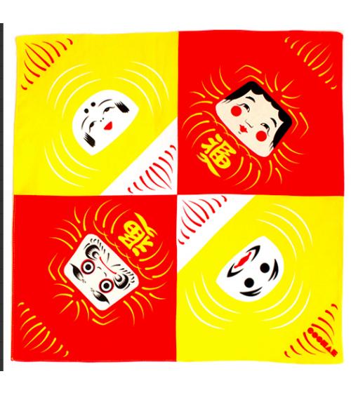 Furoshiki. Daruma (48 cm x 48 cm)