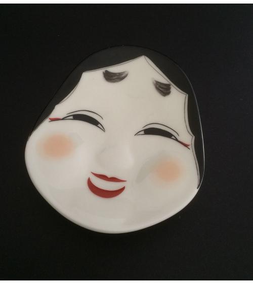 Bandeja de porcelana máscara Okame