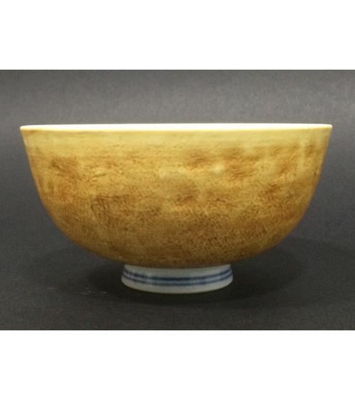 Cuenco de porcelana para sopa con exterior en tierra mate