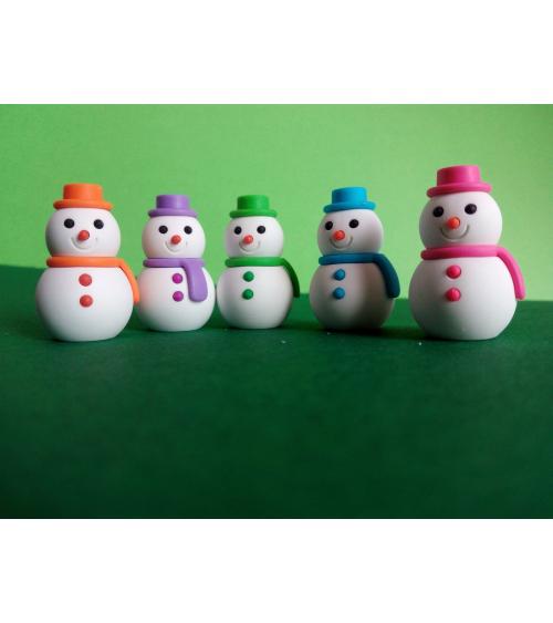 Conjunto gomas IWAKO Muñecos de Nieve