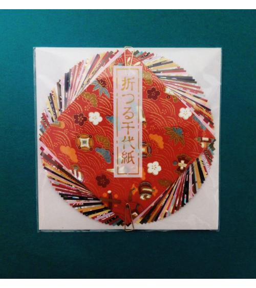 Kit papel origami 40 hojas 10x10cm.