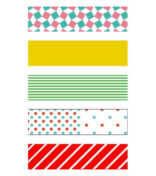 Washi tape (masking tape) gift box POP