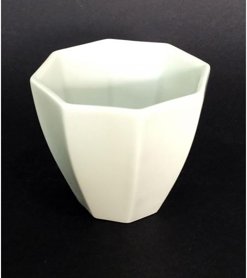 Vaso de porcelana octogonal