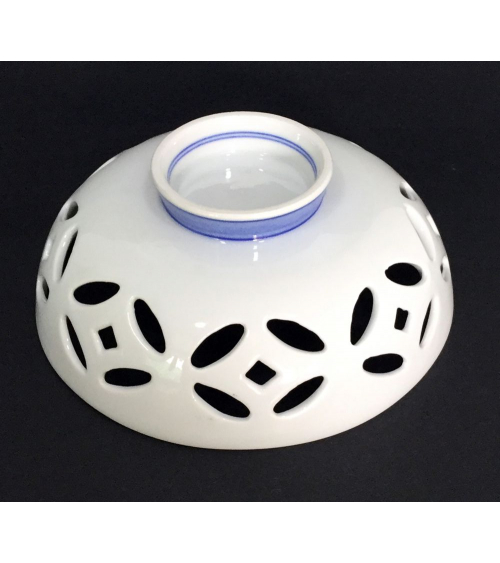 Bowl de porcelana celosía blanco