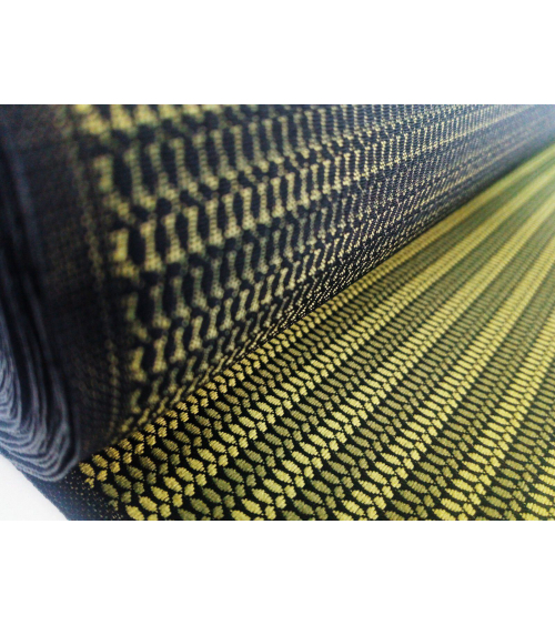 Green stripes patterned japanese brocade
