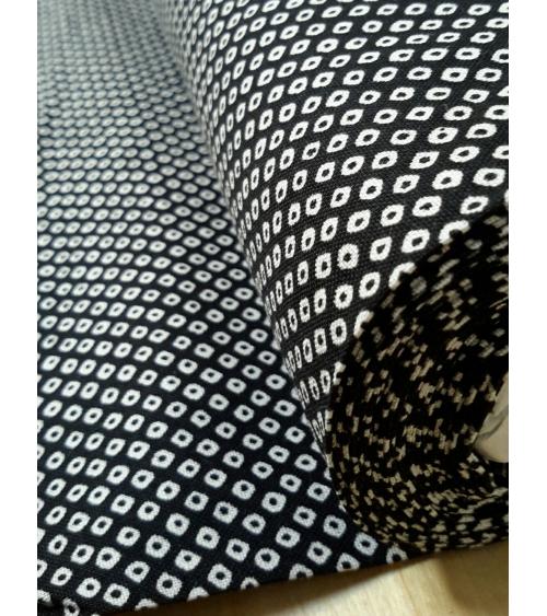 Japanese cotton fabric. Shibori black