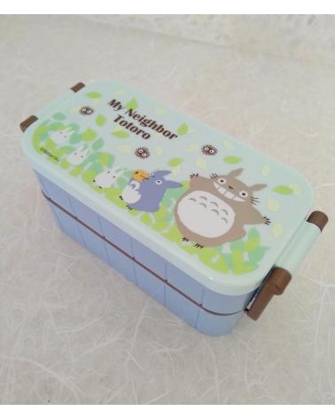 Bento box Totoro Azul dos pisos.