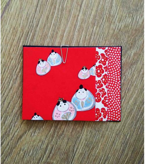 Kit papel origami 2+2+2 hojas en rojos. 7,5x7,5cm.