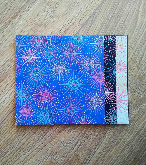 Kit papel origami 2+2+2 hojas Fuegos. 13cmx13cm.