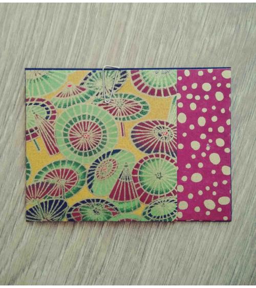 Kit papel origami 3+3 hojas. Sombrillas. 7,5x7,5cm.