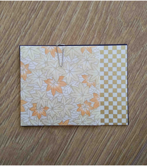 Kit papel origami 3+3 hojas. Hojas de arce. 7,5x7,5cm.