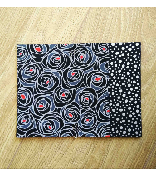 Kit papel origami 2+2 hojas. Rosas negras. 15x15cm.