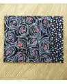 Kit papel origami 2+2 hojas. Rosas negras. 13x13cm.
