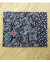 Origami paper kit. Black roses. 2+2 pieces 13x13cm.
