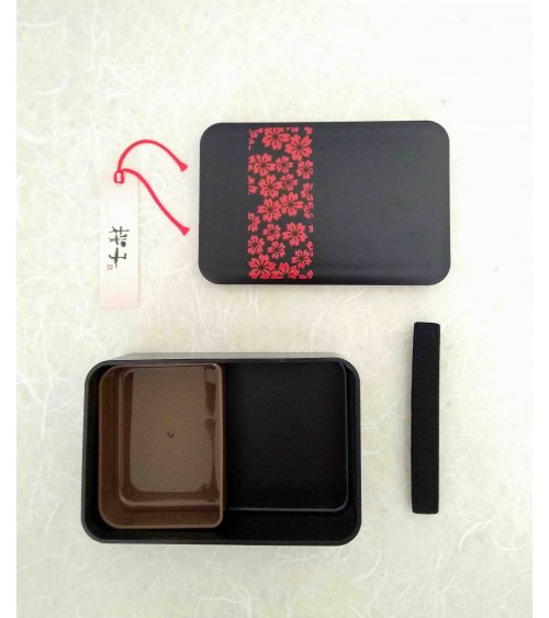 Bento box (Lunch box) sakura rojo y negro