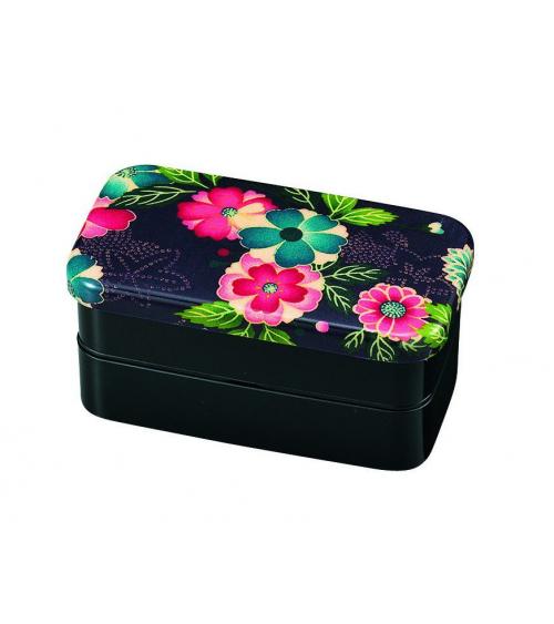 Bento box (Lunch box) yuzen negra pequeña