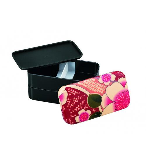 Bento box (Lunch box) yuzen rosa pequeña