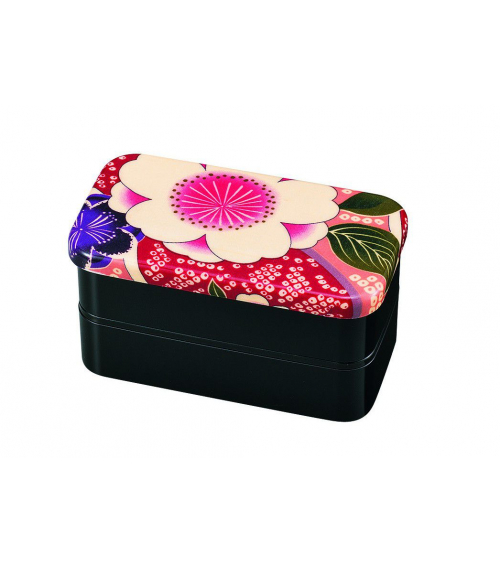 Bento box (Lunch box) yuzen rosa mediana