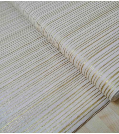 Bambú oro y beige. 100% Algodón Japonés.