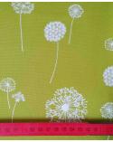 Tela japonesa Oxford. Dandelion en verde.