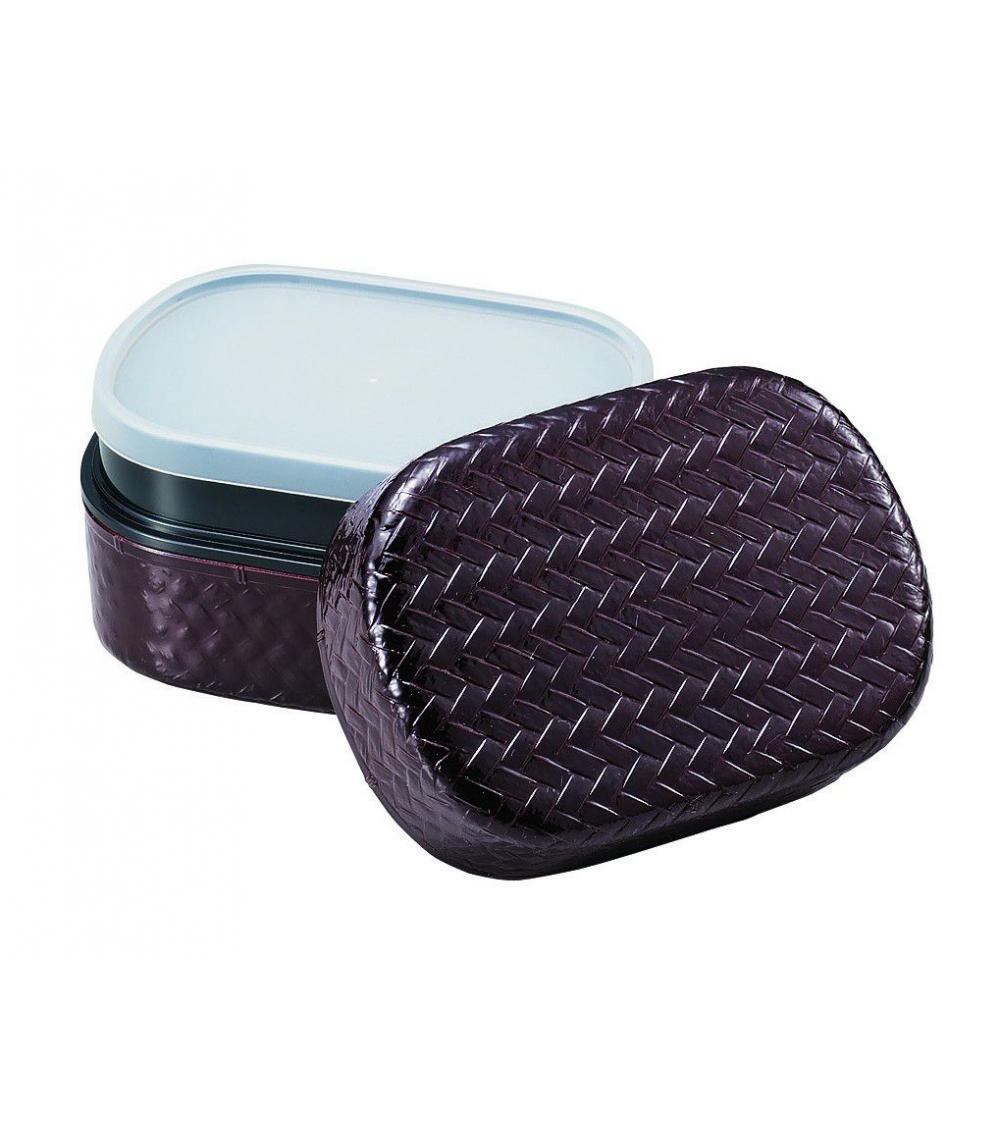 bento box brown oval grids japonerias. Black Bedroom Furniture Sets. Home Design Ideas