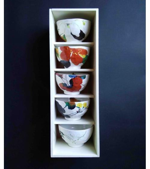 Japanese 5 bowls set 'Hana'.