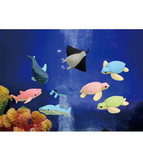 """Set of 3 IWAKO erasers """"Aquarium"""""""