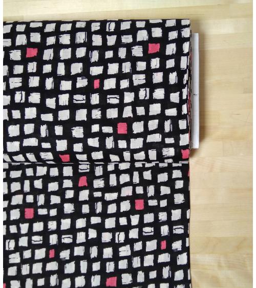 Japanes fabric Printed shirting 'Blocks'
