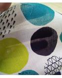 Tela japonesa. Printed shirting Círculos