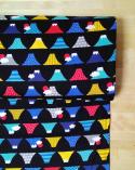 Tela japonesa. Dobby Monte Fuji de colores.