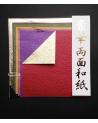 Origami kit two-tones momigami. 15x15cm.
