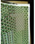 Papel japonés chiyogami yosegi verde