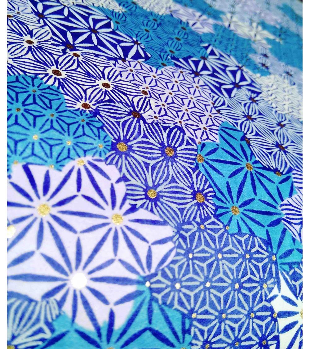 Papel Chiyogami de nubes en azules
