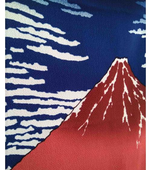 Furoshiki. 'The Red Fuji' (68cm x 68cm)