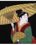 Furoshiki. Tres mujeres bajo la lluvia (68 cm x 68 cm)