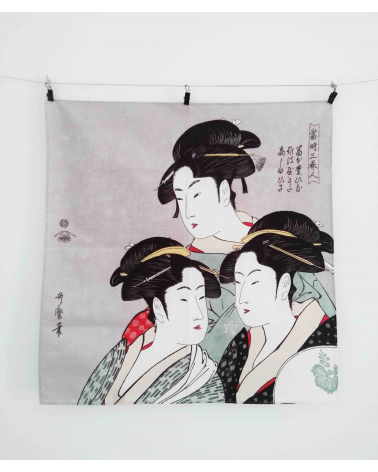 Furoshiki. Tres bellezas (48 cm x 48 cm)